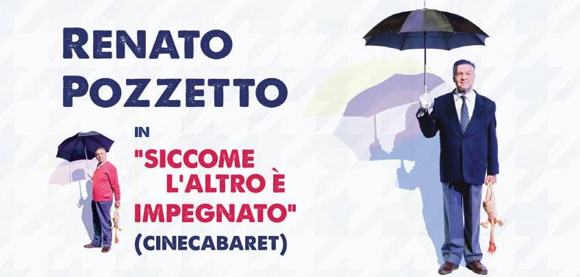 Renato Pozzetto in Siccome l'altro è impegnato (cinecabaret) al Teatro Nazionale di Milano